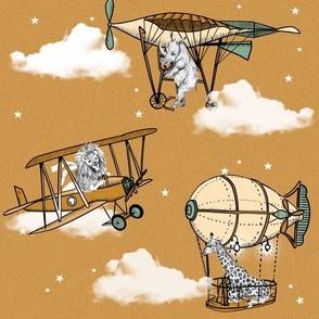 Safari Airplanes 1- honey