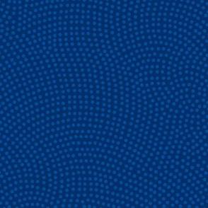 Fibonacci-scallop polkadots - lakeside blues