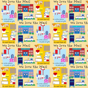 WE LOVE THE MAIL- YELLOW