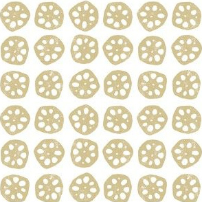 Lotus Root Cross Section - Mustard Yellow (small)