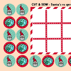 Cut & Sew Santa's vs Spouts panel game