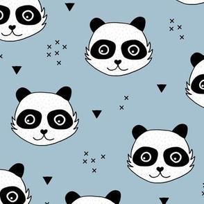 Kawaii Panda minimalist animals Scandinavian style kids nursery design cool blue