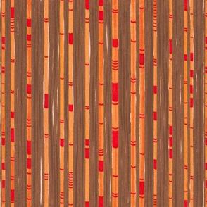 Abstract Bamboo Brown