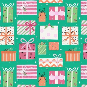 Gift boxes green small