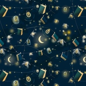 Night reading by firefly's light
