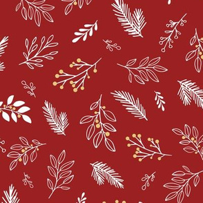Christmas Branches in Red