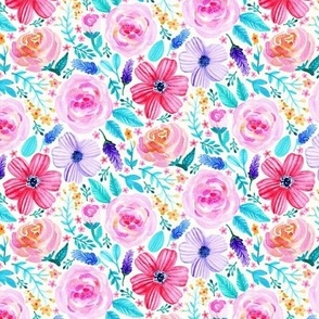 Bold Blooms (Cool Colorway) - Tiny