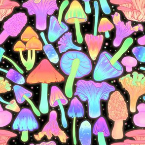 Spooky Mushroom Hunt Neon 2X