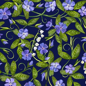 Lily of the Valley + Periwinkle | Navy