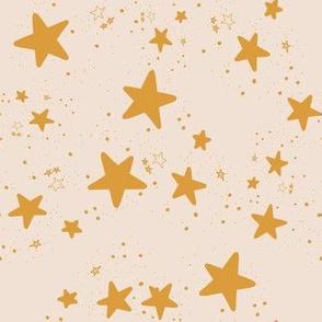 Mustard star on blush