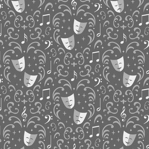 Theater Damask (Silver Small)
