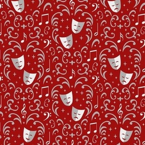 Theater Damask (Red Small)