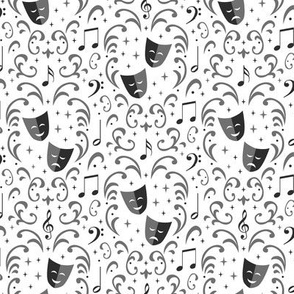 Theater Damask (White Small)