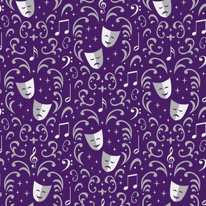 Theater Damask (Purple Small)
