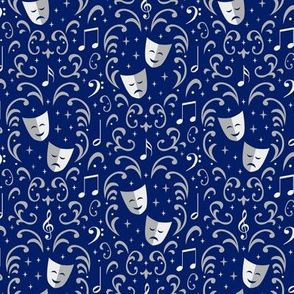 Theater Damask (Blue Small)