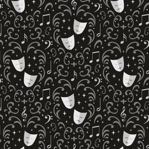Theater Damask (Black Small)