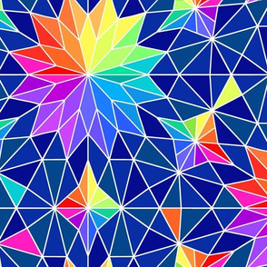 Kaleidoscope with White Lines