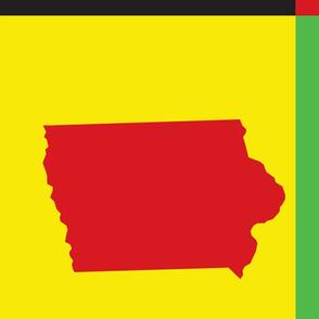 Pop Art Iowa Pattern