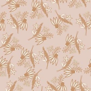 mustard floral vintage christmas muted