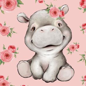 26x36 hippo blanket