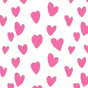 JUST HEARTS pink small