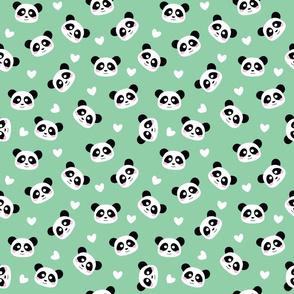 Kawaii Panda Mint Green - M