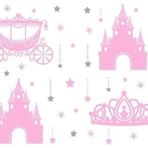 Princess Hanging Stars Pink Gray