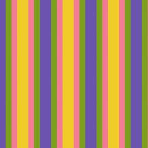 yellow pink purple green yellow stripe