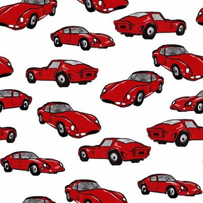 Red racing cars