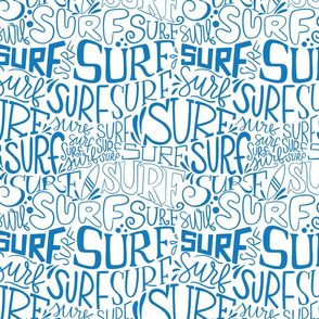 Surf lettering in blue 2