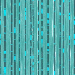 Abstract Bamboo Blue