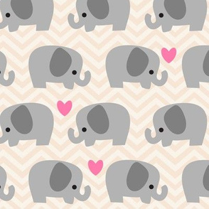 Cute Elephant Beige -L