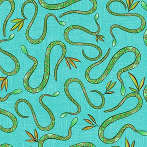 Desert Snakes - Bright Blue - Small Scale