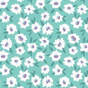 Mint Flowers - Large Scale
