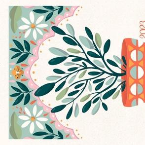 Flowers - Calendar 2021 - Fresh Green