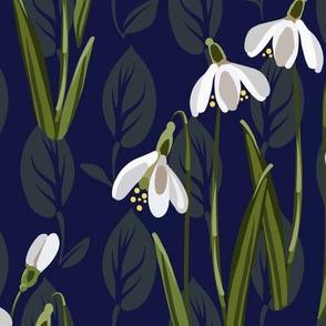 Snowdrop Flowers | Navy