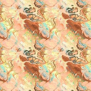 MEDIUM LIKE A BUTTERFLY MARBLE GINGER CORAL FLWRHT