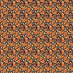 Marigolds on blue