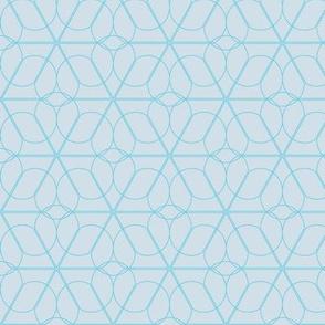 flower lattice - blue