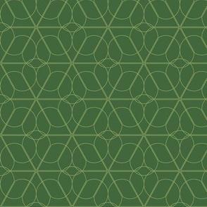 flower lattice  - green