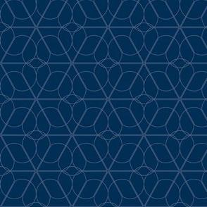 flower lattice - indigo
