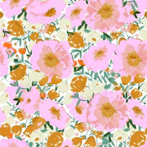 So golden & pink - a girly floral