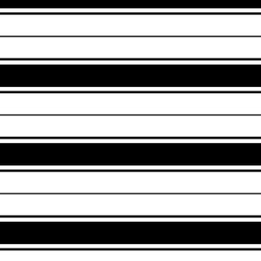 black french stripe boat neck marine sailor nautical polo shirt multi stripe horizontal