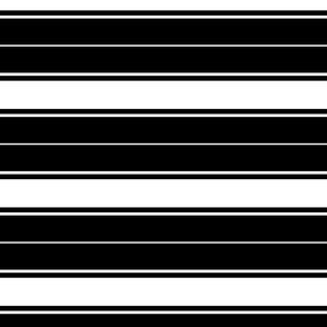black french stripe boat neck marine sailor nautical polo shirt multi stripe reversed horizontal