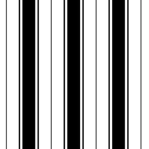 black french stripe boat neck marine sailor nautical polo shirt multi stripe vertical