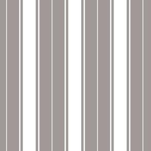 ash grey french stripe boat neck marine sailor nautical polo shirt multi stripe reversed vertical