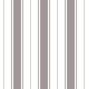 ash grey french stripe boat neck marine sailor nautical polo shirt multi stripe vertical