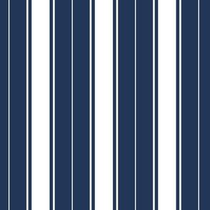 navy blue french stripe boat neck marine sailor nautical polo shirt multi stripe reversed vertical