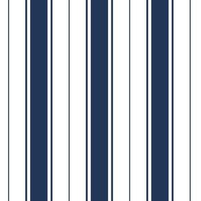 navy blue french stripe boat neck marine sailor nautical polo shirt multi stripe vertical