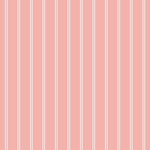 pink blossom french stripe boat neck marine sailor nautical polo shirt two stripe solid reversed vertical